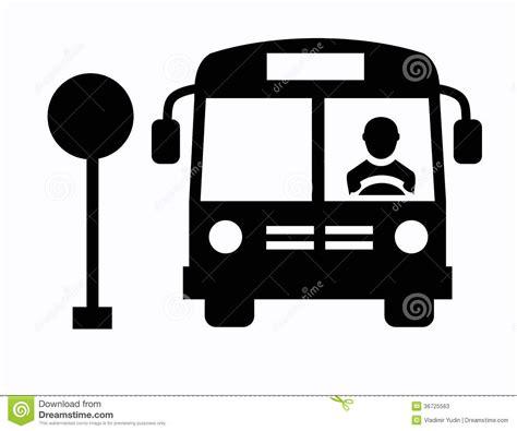 format eps en jpg bus icon stock image image of station traffic sign