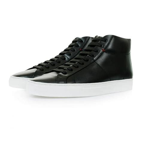 hugo high top sneakers hugo footwear fucomid black hi top shoes