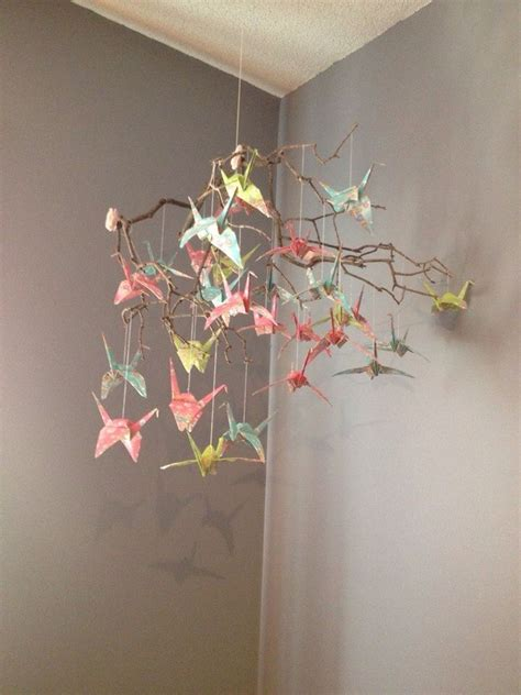 How To Make A Paper Mobile - 17 best images about origami paper crane mobiles on