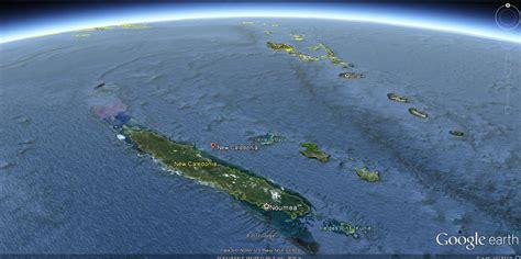 nouvelle caledonie carte  image satellite