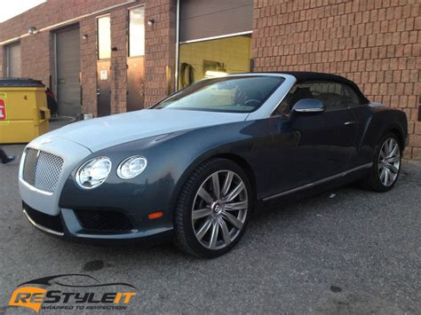 bentley wrapped bentley gt coupe partial wrap vehicle customization shop