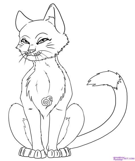 pencil anime cat coloring coloring pages