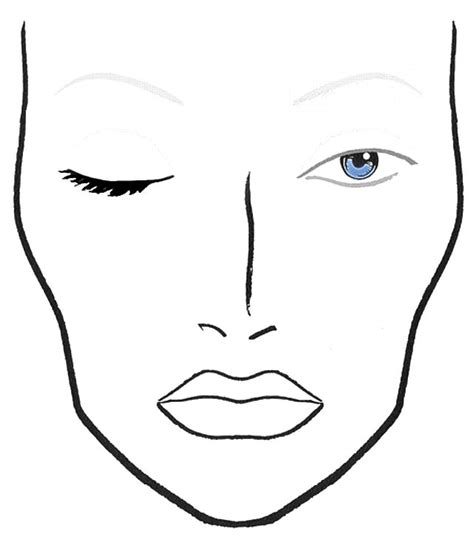 blank makeup template 1000 images about make up templates on