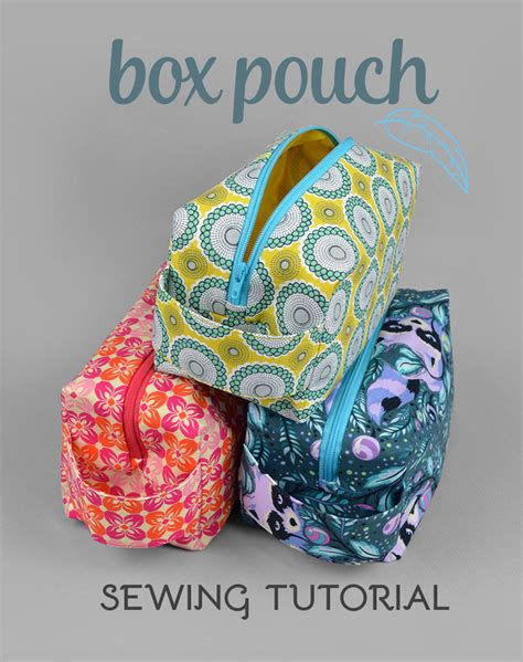 free pattern lined zippered pouch sewing tutorial zippered box pouch by sewdesune on