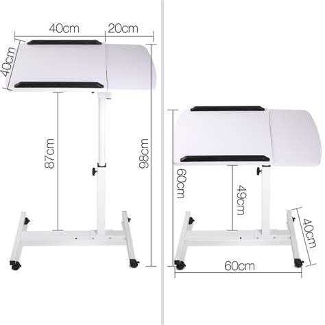 adjustable mobile laptop desk buy rotating mobile laptop adjustable desk white online at