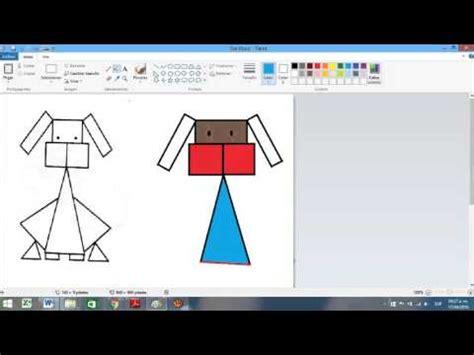 figuras geometricas hechas en cartulina hagamos un dibujo con figuras geom 201 tricas youtube