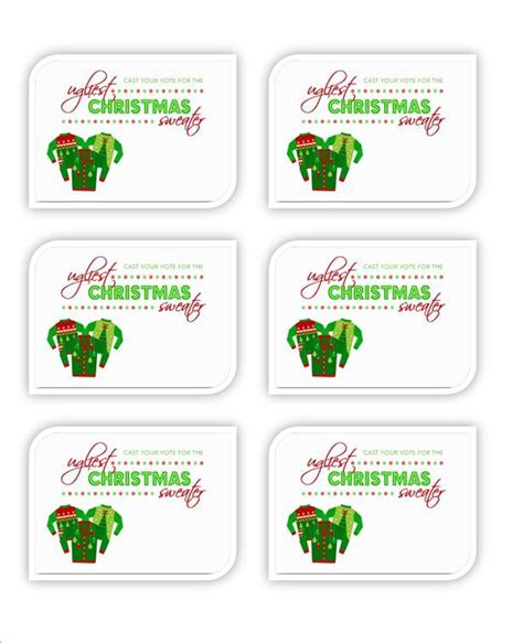 free printable ugly sweater voting ballots pin by annie maynard on ugly sweater party pinterest