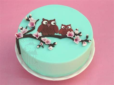 eulen kuchen eulen im kirschbaum fondant torte backen brot kuchen
