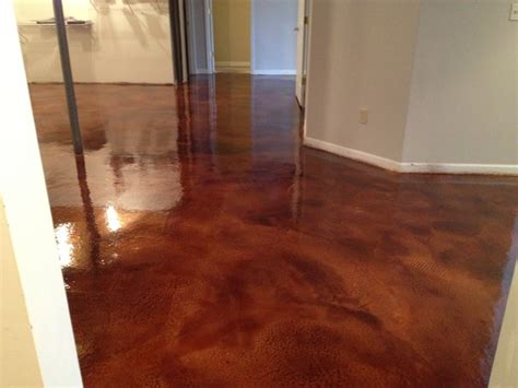 overlay and stain traditional basement cincinnati
