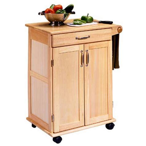 kitchen island and carts home styles natural finish kitchen utility cart hs 5040