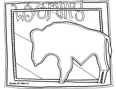 wyoming free coloring pages