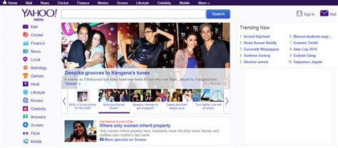 yahoo new layout 2014 yahoo india s reved homepage gets a new design and