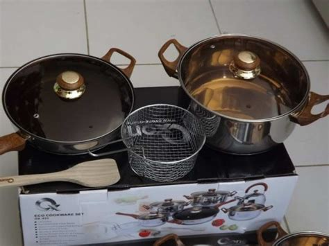Satu Set Oxone Eco Cookware panci masak oxone ox933 wajan original 12 2pcs plus glass