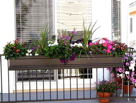 Planter Boxes For Balcony Railings by 25 Best Ideas About Railing Planters On Flowers For Hanging Baskets Balcony