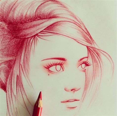 color pencil sketch you should do a pencil sketch with a colored pencil like