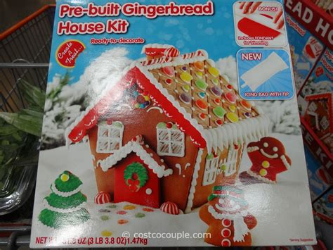 create a house create a treat pre built gingerbread house kit