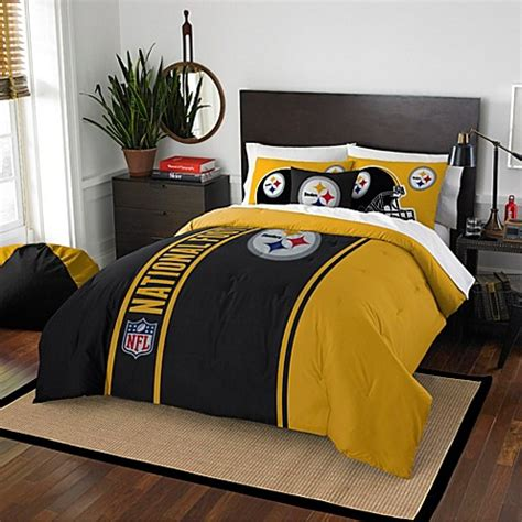 Steelers Crib Bedding Set Nfl Pittsburgh Steelers Embroidered Comforter Set Www Bedbathandbeyond