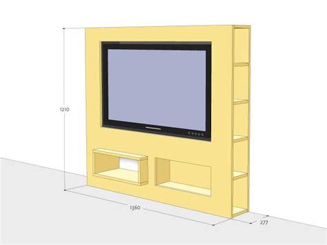 zelfbouw audio meubel werktekening tv meubel modern zelf maken in hout of mdf