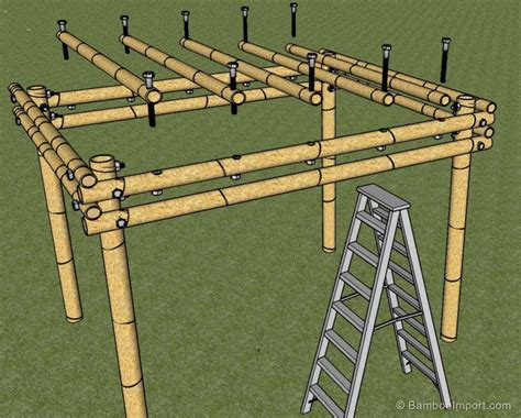 how build a pergola how to build a bamboo pergola