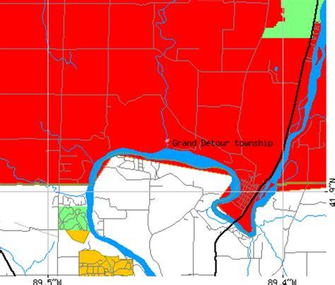 grand illinois map grand detour township ogle county illinois il detailed