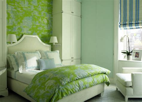 green wallpaper for bedroom green and blue bedrooms contemporary girl s room