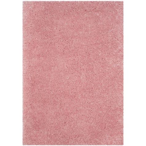 rugs pink safavieh polar shag light pink 8 ft x 10 ft area rug psg800p 8 the home depot