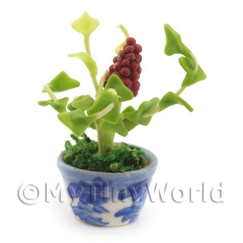 dolls house flowers dolls house miniature flowers and plants dolls house miniature red grape plant
