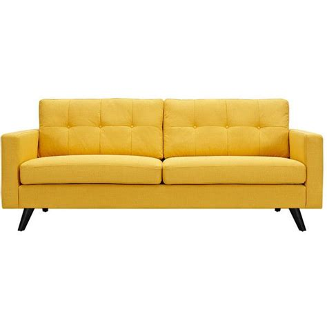dot bo graham sofa in yellow 815 liked on polyvore
