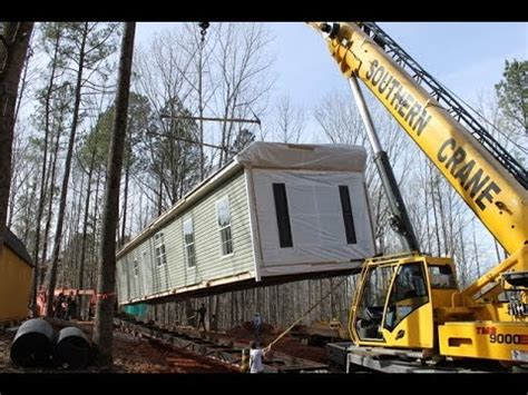 moving a modular home moving modular home by crane youtube