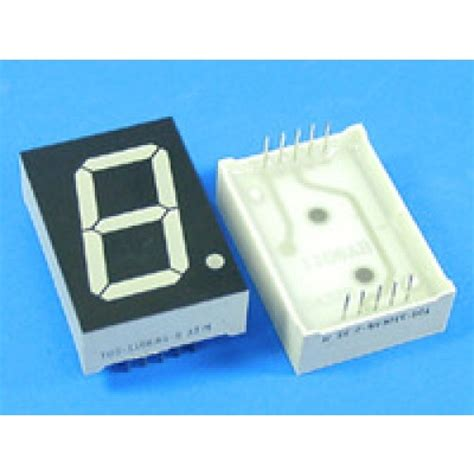 cathode led display led display 7 segment 1 digit 1 inch common cathode ultra green