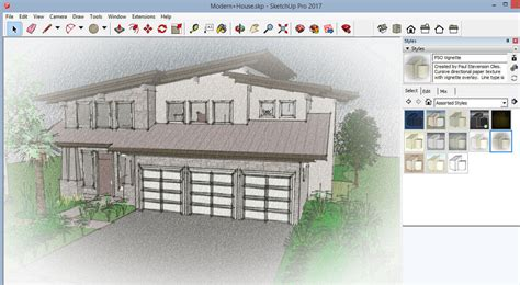 sketchup layout and style builder sketchup artists styles part 1 download free styles