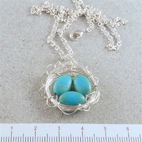 Handmade Necklaces Australia - magnesite bird s nest pendant handmade jewellery australia