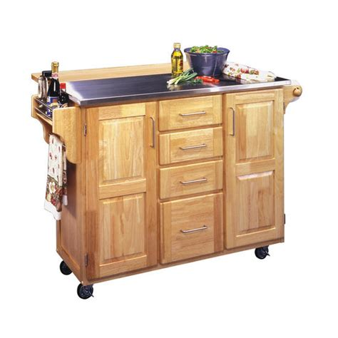 kitchen cart island home styles stainless steel top kitchen island