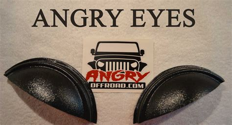 jeep angry headlights angry jeep headlight covers angry half moon