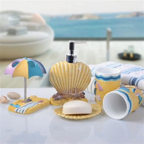 sea bathroom accessories 5pcs bathroom accessories set children sea shell style