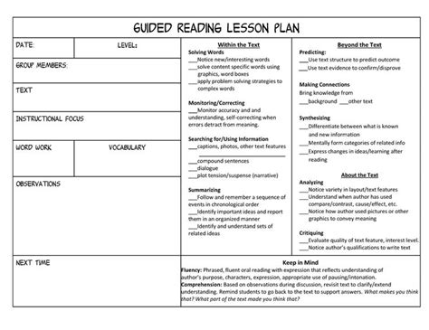 lesson plan template for grade helpful tips and ideas for candidates a