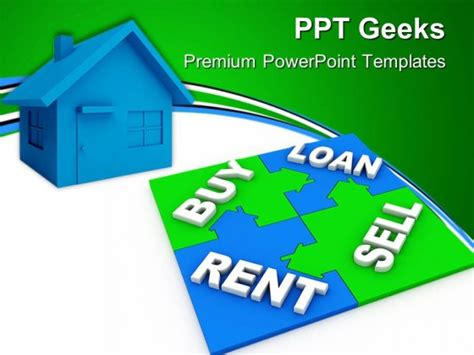 sell powerpoint templates home puzzle buy and sell real estate powerpoint templates