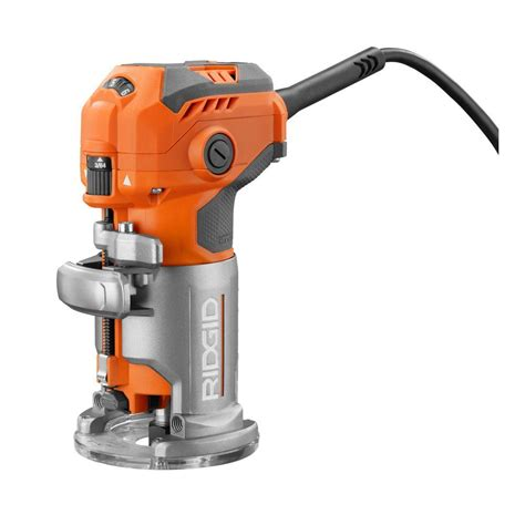 ridgid  amp corded compact fixed base router