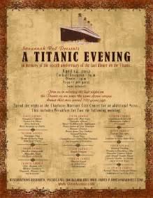 titanic breakfast menu helen schwab april 2012