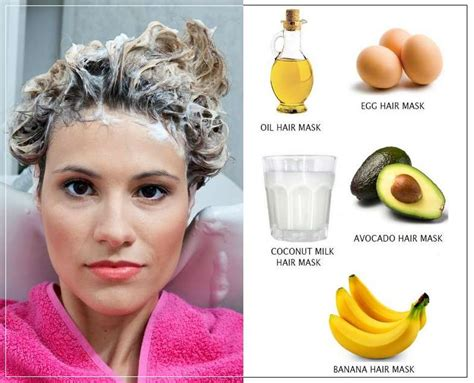 diy hair masks for growth and damaged hair with natural