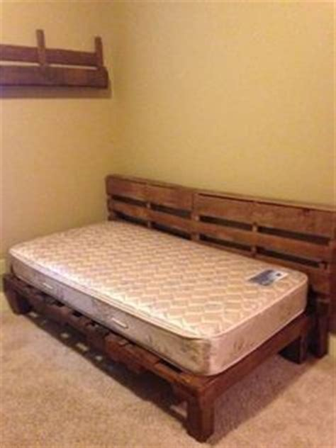 twin pallet bed simple pallet twin bed frame shit i built pinterest