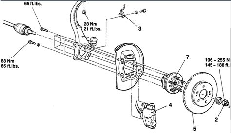 1997 chrysler cirrus front brake rotor removal diagram 1997 dodge stratus when driving it makes a loud howling noise i can t tell if the noise is in