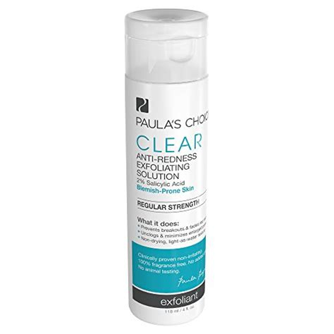 Paula S Choice Clear Strength Anti Redness Exfoliant Size paula s choice clear regular strength anti redness exfoliating solution with 2 bha salicylic