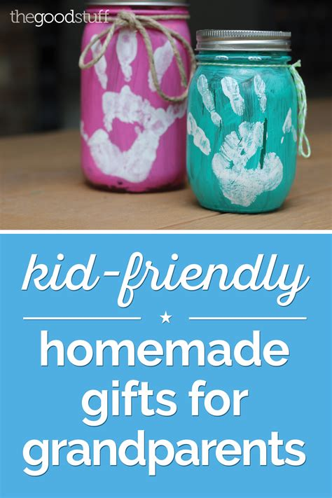 Handmade Grandparent Gifts - kid friendly gifts for grandparents