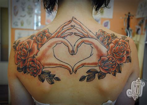 tattoo for upper hand heart tattoos and designs page 5