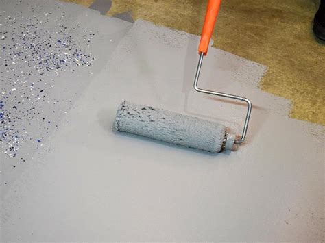 Garage Floor Paint Roller How To Paint A Garage Floor With Epoxy How Tos Diy