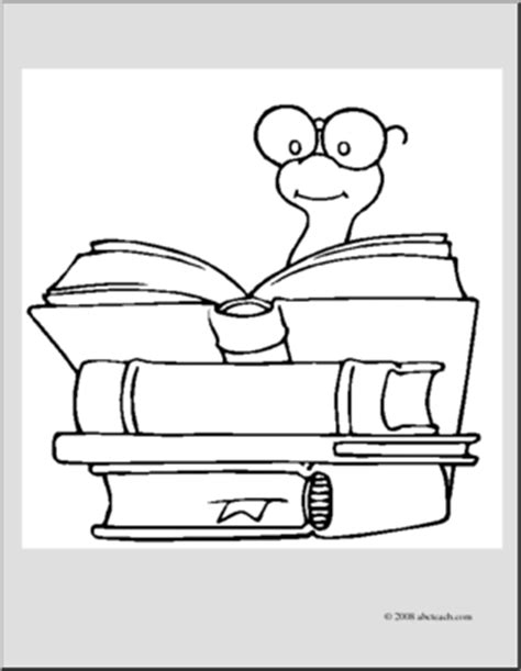 coloring page book worm clip art cartoon bookworm coloring page i abcteach com