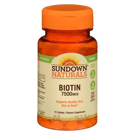 Vitacost Biotin 7500 Mcg 60 Tablets sundown naturals biotin 7500 mcg dietary supplement tablets walgreens