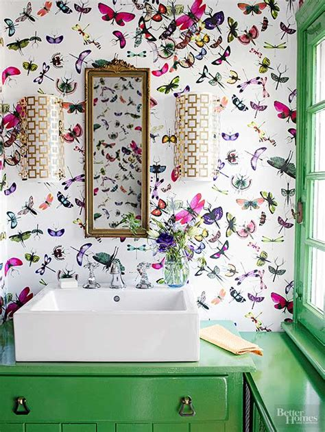 Funky Bathroom Wallpaper Ideas Tiny But Chic 3 Easy Ideas For Small Bathrooms
