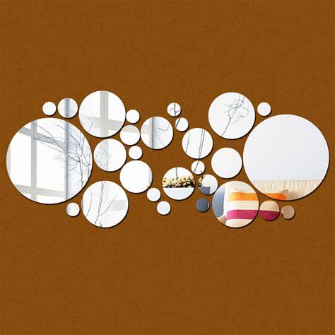 removable circle polka dots wall art vinyl sticker decal 28pcs lot fashion acrylic 3d mirror round dots polka wall